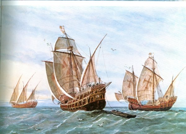 Spanish caravels as used by francisco pizarro